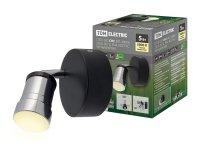 Светильник LED СНС 5Вт, 3000 K, IP44, Костус, черный/хром, Спот (230В, 50Гц) 90*84*90 TDM 1/20