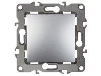 12-1101-03  ЭРА Выключатель, 10АХ-250В, Эра12, алюминий 10/100