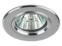 """KL58 SL Светильник ЭРА литой """"алюминевый"""" MR16,12V 50W, серебро 1/100"""